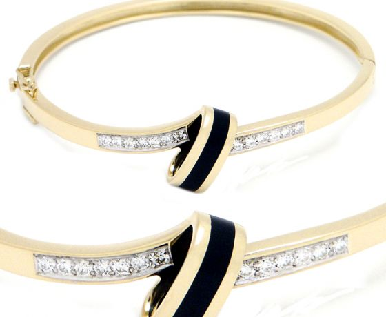 Sonata Diamond Bangle